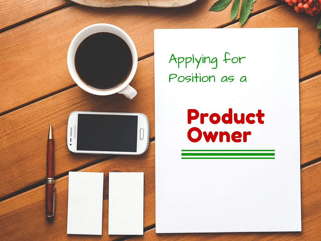 Applying for job as a Product Owner