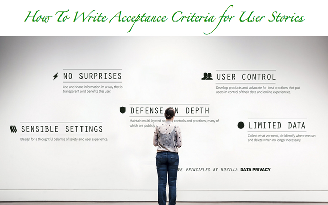 Acceptance criteria for a user story