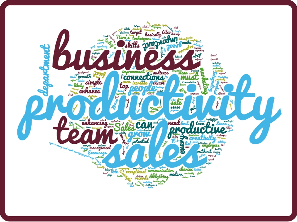 Improve productivity for sales team