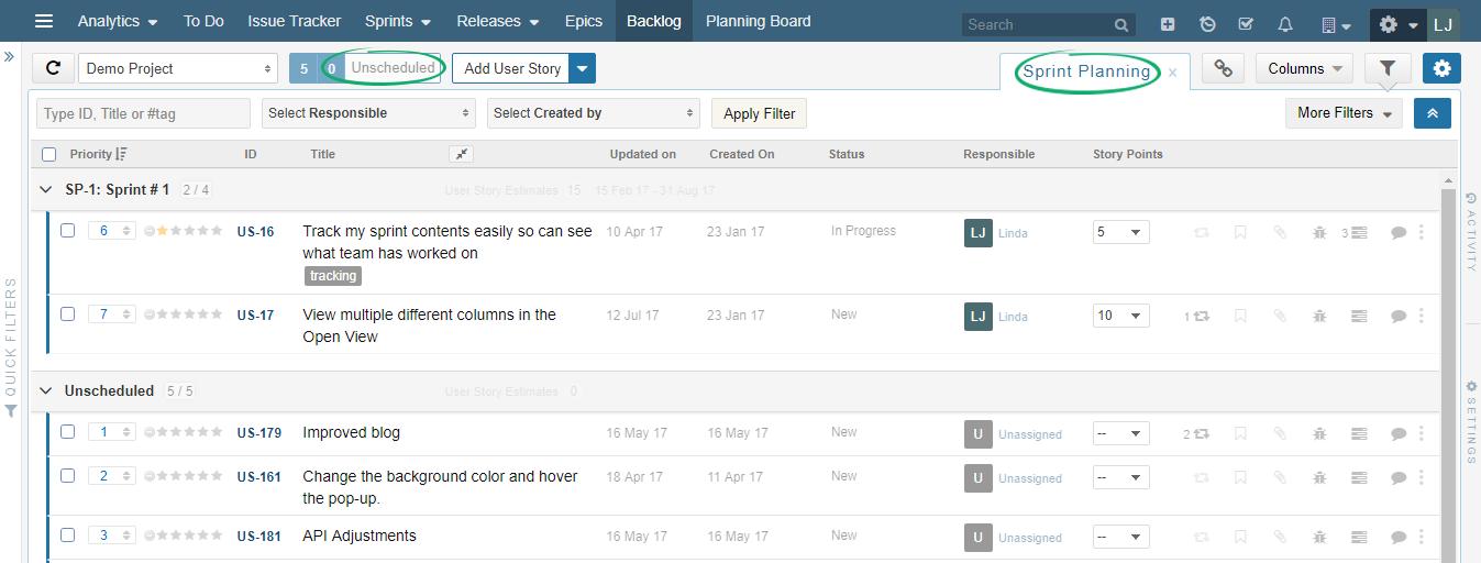 Sprint-Planning-on-Backlog-Board