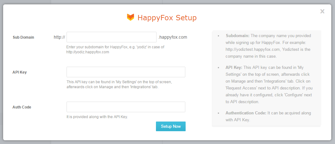 happyfox-account-setup